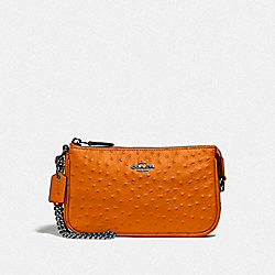 LARGE WRISTLET 19 - DARK ORANGE/BLACK ANTIQUE NICKEL - COACH F73996