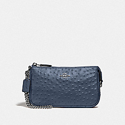 LARGE WRISTLET 19 - DENIM/SILVER - COACH F73996