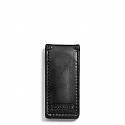 COACH WATER BUFFALO NEW MONEY CLIP - BLACK - F74016
