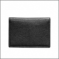 COACH DRESS TEXTURED SLIP PASSPORT CASE - BLACK/BLACK - F74125