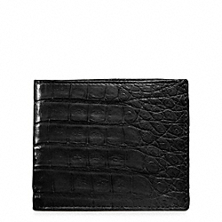EXOTIC SLIM BILLFOLD COACH F74263