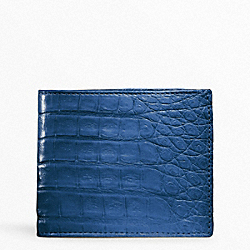 COACH EXOTIC SLIM BILLFOLD WALLET - COBALT - F74263