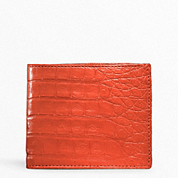COACH EXOTIC SLIM BILLFOLD - ORANGE - F74263