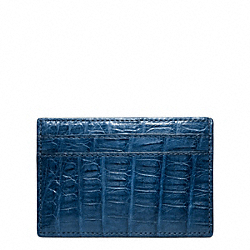 COACH EXOTIC SLIM CARD CASE - COBALT - F74265