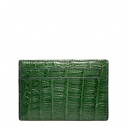 COACH EXOTIC SLIM CARD CASE - ONE COLOR - F74265