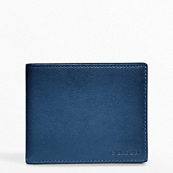 COACH BLEECKER LEATHER SLIM BILLFOLD - ONE COLOR - F74305