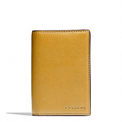 COACH BLEECKER LEATHER BIFOLD CARD CASE - NEW MUSTARD - F74310