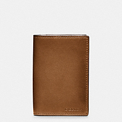BLEECKER LEGACY BIFOLD CARD CASE IN LEATHER - f74310 - FAWN