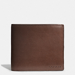 COACH BLEECKER COIN WALLET IN LEATHER - MAHOGANY/FAWN - F74314