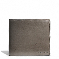 BLEECKER COIN WALLET IN LEATHER - SHARKSKIN - COACH F74314