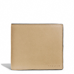 COACH BLEECKER LEATHER COIN WALLET - HAYSTACK - F74314