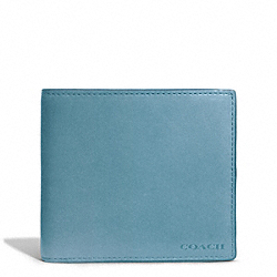 COACH BLEECKER LEATHER COIN WALLET - CADET - F74314