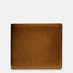 BLEECKER COIN WALLET IN LEATHER - FAWN - COACH F74314