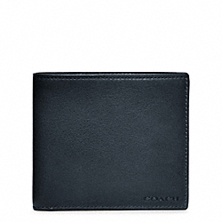COACH BLEECKER LEGACY LEATHER DOUBLE BILL WALLET - NAVY - F74316