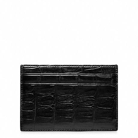 COACH CROSBY EXOTIC CROC SLIM CARD CASE -  - f74320
