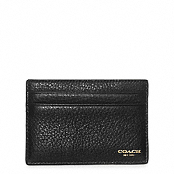 CROSBY TEXTURED LEATHER SLIM CARD CASE - BLACK - COACH F74322