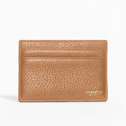 COACH CROSBY TEXTURED LEATHER SLIM CARD CASE - ONE COLOR - F74322
