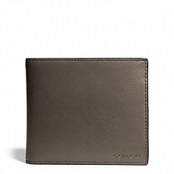 COACH BLEECKER LEATHER COMPACT ID WALLET - SHARKSKIN - F74345