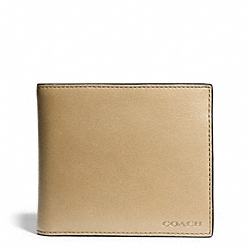 BLEECKER LEATHER COMPACT ID WALLET - HAYSTACK - COACH F74345