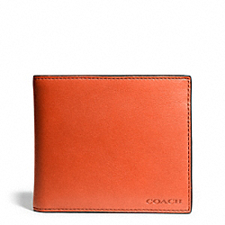 COACH BLEECKER LEATHER COMPACT ID WALLET - SAMBA - F74345