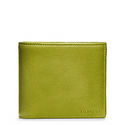 COACH BLEECKER LEGACY LEATHER COMPACT ID WALLET - LIME - F74345