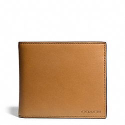 COACH BLEECKER LEATHER COMPACT ID WALLET - NATURAL - F74345