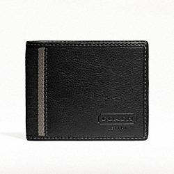 COACH HERITAGE WEB LEATHER SLIM BILLFOLD WALLET - ONE COLOR - F74373
