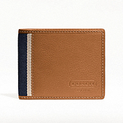 COACH HERITAGE WEB LEATHER SLIM BILLFOLD - ONE COLOR - F74373
