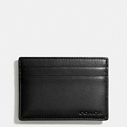 BLEECKER MONEY CLIP CARD CASE - BLACK - COACH F74381