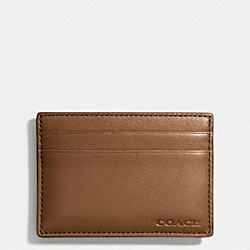 BLEECKER MONEY CLIP CARD CASE - FAWN - COACH F74381