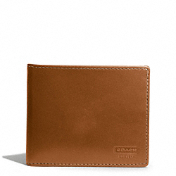 COACH WATER BUFFALO SLIM BILLFOLD WALLET - BRITISHTAN - F74383