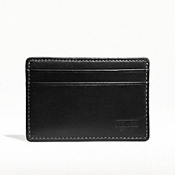 COACH WATER BUFFALO SLIM CARD CASE - BLACK - F74389