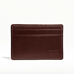 COACH WATER BUFFALO SLIM CARD CASE - MAHOGANY - F74389