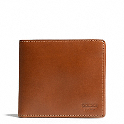 COACH WATER BUFFALO DOUBLE BILLFOLD ID WALLET - BRITISHTAN - F74395