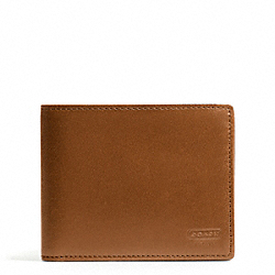 COACH WATER BUFFALO DOUBLE BILLFOLD WALLET - BRITISHTAN - F74396