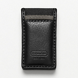 HERITAGE WEB LEATHER MONEY CLIP