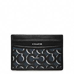 CROSBY OP ART SHADOW SLIM CARD CASE COACH F74459