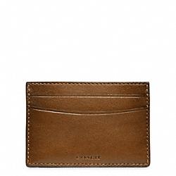 HERITAGE BASEBALL CARD CASE - FAWN/MAHOGANY - COACH F74473