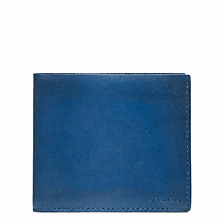 COACH HERITAGE BASEBALL DOUBLE BILLFOLD - VINTAGE ROYAL/FAWN - F74474
