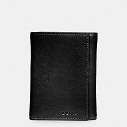 BLEECKER TRIFOLD WALLET IN LEATHER - BLACK - COACH F74499