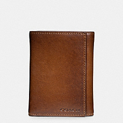 BLEECKER TRIFOLD WALLET IN LEATHER - FAWN - COACH F74499