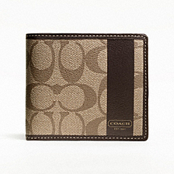 COACH HERITAGE STRIPE COIN WALLET