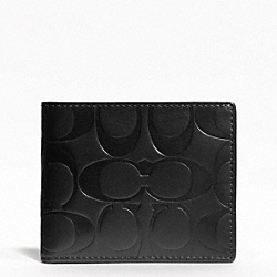 SIGNATURE EMBOSSED SLIM BILLFOLD