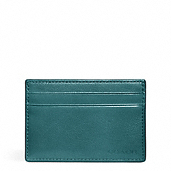 COACH BLEECKER LEATHER ID CARD CASE - AEGEAN - F74560