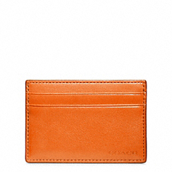 COACH BLEECKER LEATHER ID CARD CASE - BONFIRE - F74560