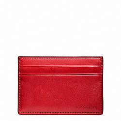 COACH BLEECKER LEATHER ID CARD CASE - ONE COLOR - F74560