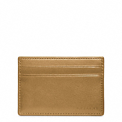 COACH BLEECKER LEATHER ID CARD CASE - SAND - F74560