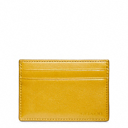 COACH BLEECKER LEATHER ID CARD CASE - SQUASH - F74560