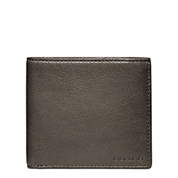 COACH BLEECKER LEATHER MONEY CLIP SINGLE BILLFOLD - ONE COLOR - F74561
