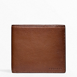 COACH BLEECKER LEATHER MONEY CLIP SINGLE BILLFOLD - FAWN - F74561